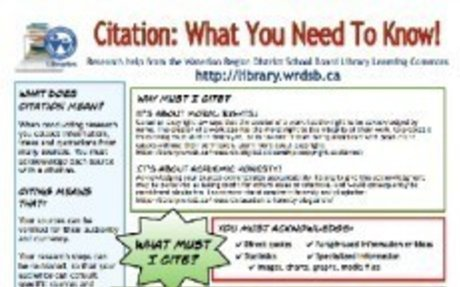What Must I Cite? (Library Learning Commons)