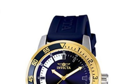 Amazon.com: Invicta Men's 12847 Specialty Stainless Steel Watch with Blue Band: Invicta: W
