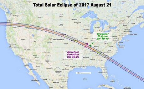 How Long Will the 2017 Solar Eclipse Last? Depends Where You Are