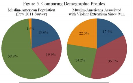 Terrorism by Muslims makes up one-third of 1 percent of all murders in the US