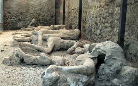 Bodies Covered in Ash