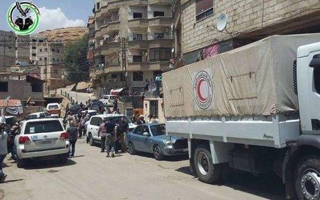 مساعدات أممية إلى الهامة و قدسيا بريف دمشق للمرة الأولى | وكالة خطوة الإخبارية