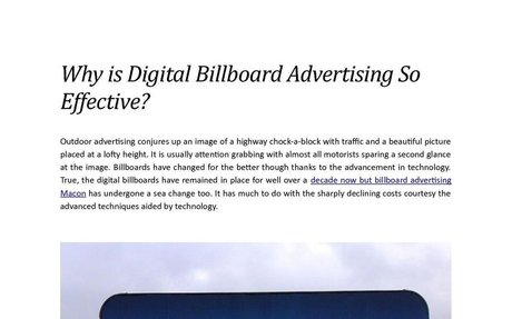 Why is Digital Billboard Advertising So Effective?