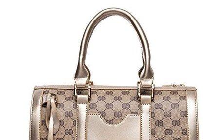 Women Handbag,Women Bag KINGH Vintage PU Leather Shoulder Bag Purse 2 PCS Set  $28.99