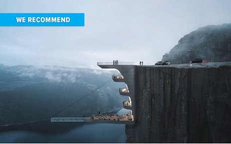 DESIGN // An Architectural Studio Has Designed A Pool Within A Cliff Edge