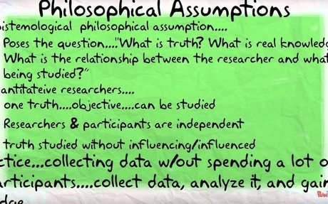 Philosophical Assumptions and Worldviews