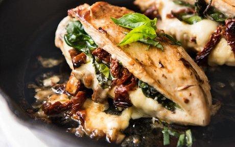 Sun Dried Tomato, Spinach & Cheese Stuffed Chicken Breast | RecipeTin Eats