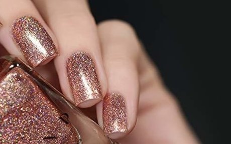 Amazon.com : ILNP Juliette Holographic Nail Polish, Rose Gold : Beauty