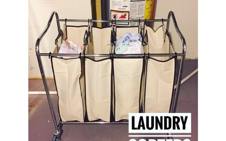 Amazon.com: Simplehouseware 4-Bag Heavy Duty Rolling Laundry Sorter Cart, Chrome: Home & K