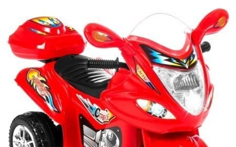 Kids Ride On Motorcycle 6V Toy Battery Powered Electric 3 Wheel Power Bicycle Red - Walmar