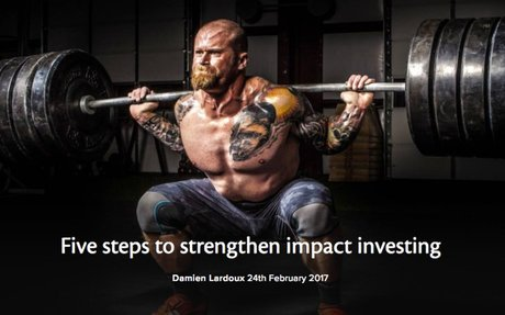 IMPACT INVESTING - Five steps to strengthen impact investing