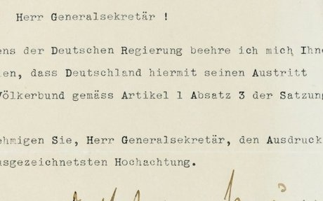 Withdrawal of Germany from the League of Nations