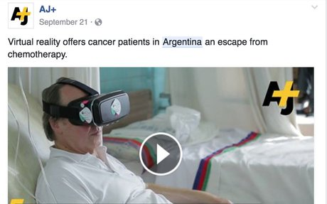 AJ+ - Virtual reality offers cancer patients in Argentina... | Facebook
