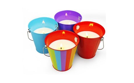 Citronella Wax Candle Bucket(Pack of 4)