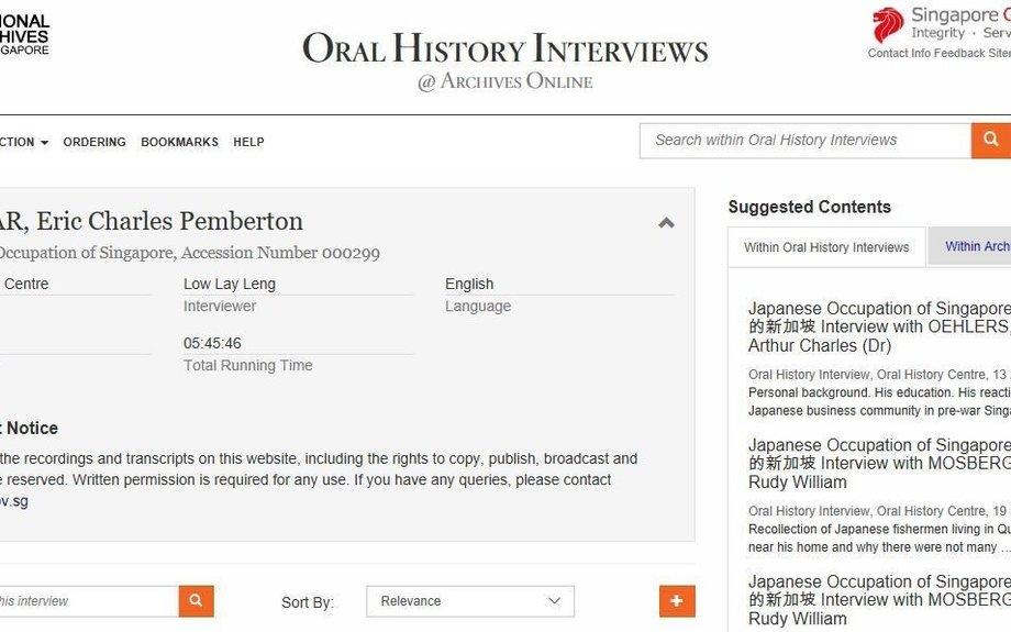 The interview of Mr Paglar, Eric Charles Pemberton.