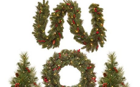Amazon.com: National Tree Holiday Decorating Assortment with 2 3 Foot Entrance Trees, 1 9
