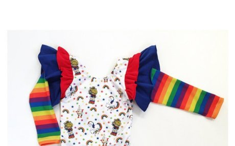 Rainbow brite romper,rainbow brite outfit, rainbow romper, rainbow baby outfit,rainbow bri