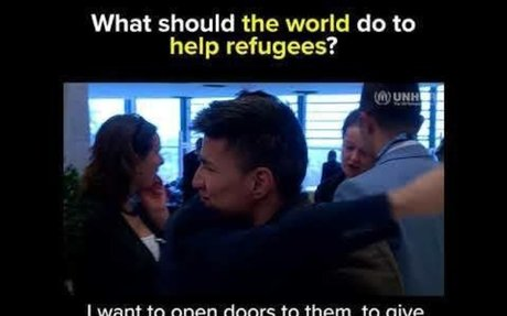 What should the world do to help refugees?