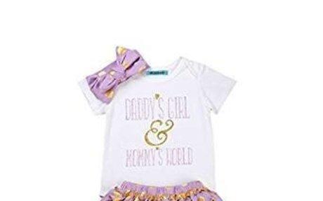 Amazon.com: Mornbaby Newborn Baby Girls Clothes Rompers+Ruffel Pants Shorts+Headband 3PCS