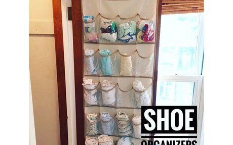 Honey-Can-Do Over The Door Clear Shoe Organizer and Storage Rack - Natural