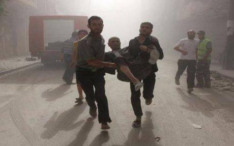 عشرات الجرحى بحي الوعر المحاصر جراء قصف النظام السوري