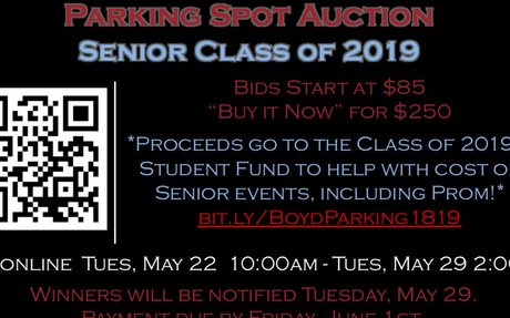 Senior Class 2019 Parking Auction