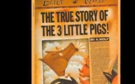#5 The True Story of the Three Little Pigs because its a funny parody from a classic.