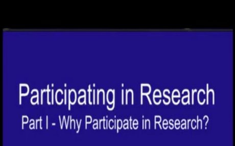 Participating in Research Part 1 - Why participate in research? - Video View Page - cancer