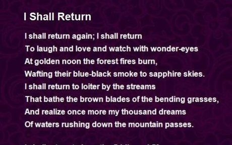 I Shall Return Poem by Claude McKay - Poem Hunter