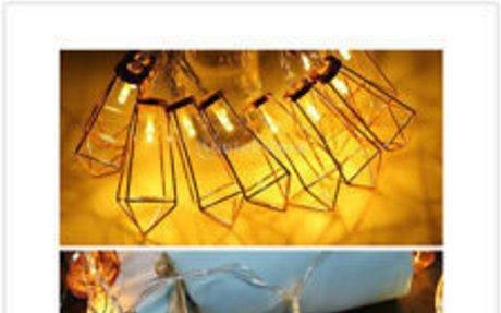 Romantic 10LED Rose Golden Metal String Lights Lamp Xmas Festival Indoor Outdoor