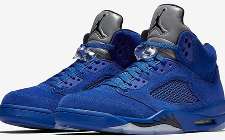 The new Air Jordan 5 Blue Suede