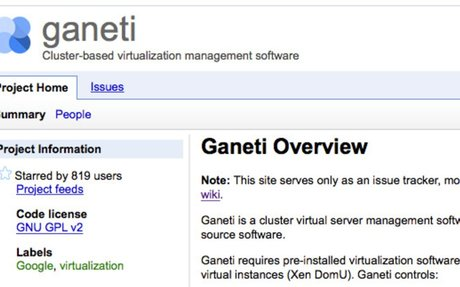 Ganeti issue tracker