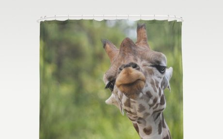 Adorable Giraffe Shower Curtain