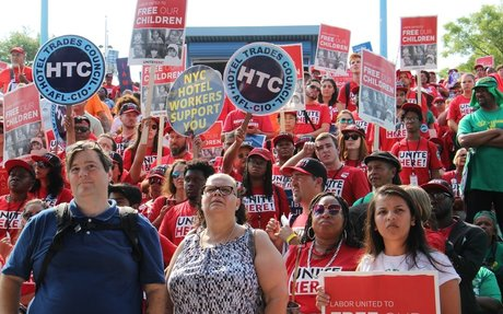 In Philly, union members protest immigration policy