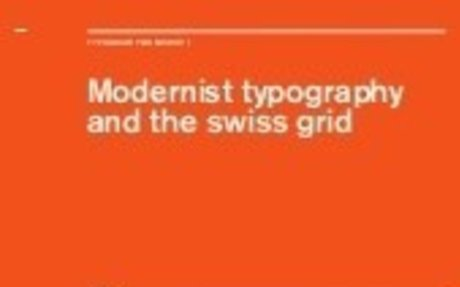 Modernist Typography and the Swiss grid - slideshow