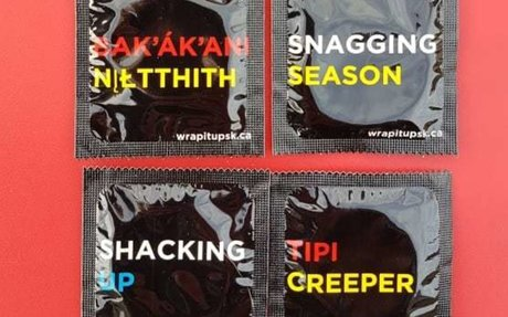 Saskatchewan group launches cheeky condom wrappers in Indigenous languages | CBC News