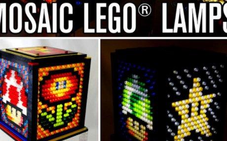 MAKE A LEGO Mosaic Lamp