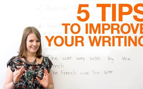5 tips to improve your writing