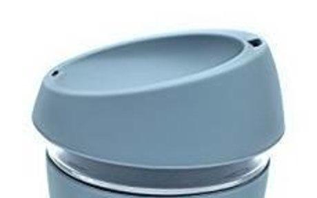 Eco-Friendly Reusable Glass Coffee Cup with Food Grade Silicone Lid. Ecoffee Travel Mug 12