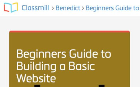 Classmill - Beginners Guide to Building a Basic Website
