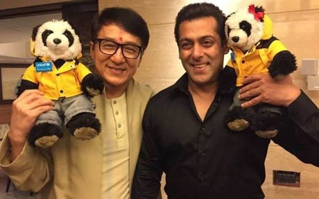 Jackie Chan in India promoting 'Kung Fu Yoga'; meets Salman Khan
