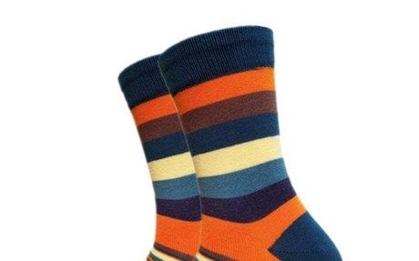 Men's Chronomatic Striped Tube Socks (5 Pairs)