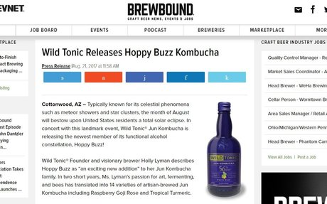 Wild Tonic Releases Hoppy Buzz Kombucha | Brewbound.com