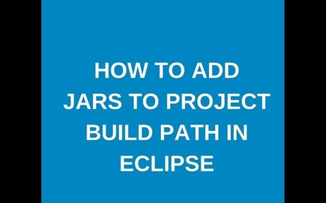 How to add jar to project build path?