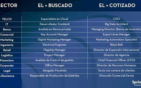 """XIV Informe """"Los más buscados de Spring Professional 2019"""""""