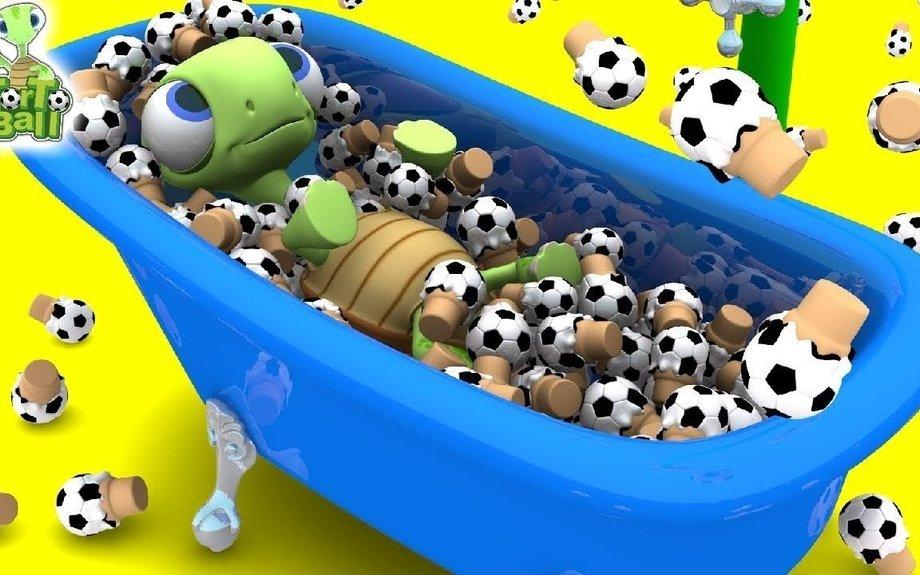 LEARN BALLS Baby Turtle Bath Ice Cream Soccer Ball For Children and Kids | Torto Ball