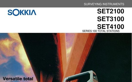 User Manual for Sokkia Set 2100,3100,4100