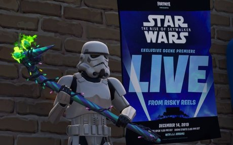 A scene from the new Star Wars will premiere in Fortnite