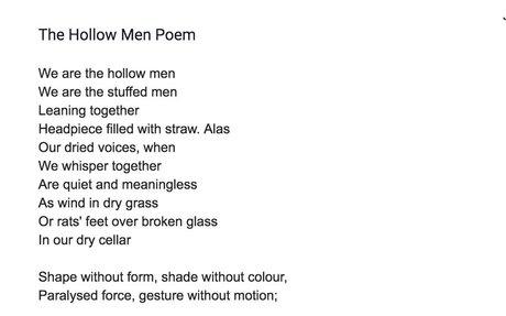My Hallow Men Poem