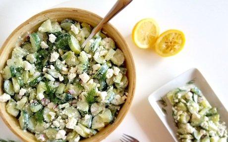 Tzatziki Inspired Cucumber Salad